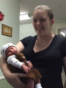 Happy young mom with baby